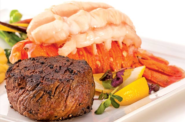 Affordable Las Vegas surf & turf meal