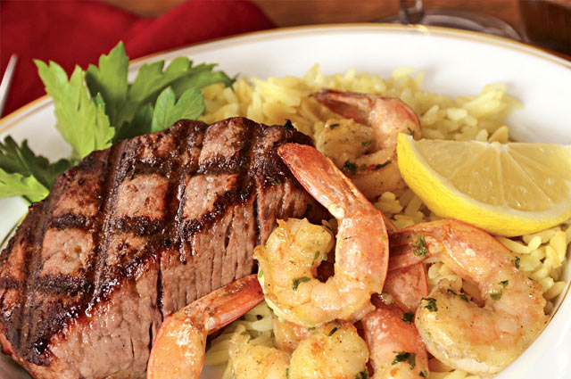 Affordable steak and shrimp dinners