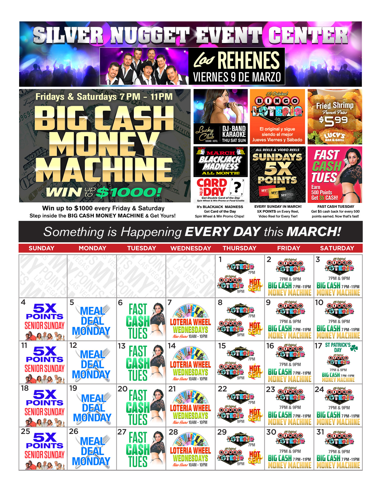 Lucky Club Upcoming Promotions - March 2018