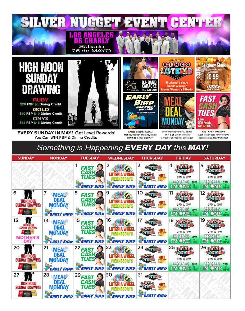 Lucky Club Upcoming Promotions - May 2018