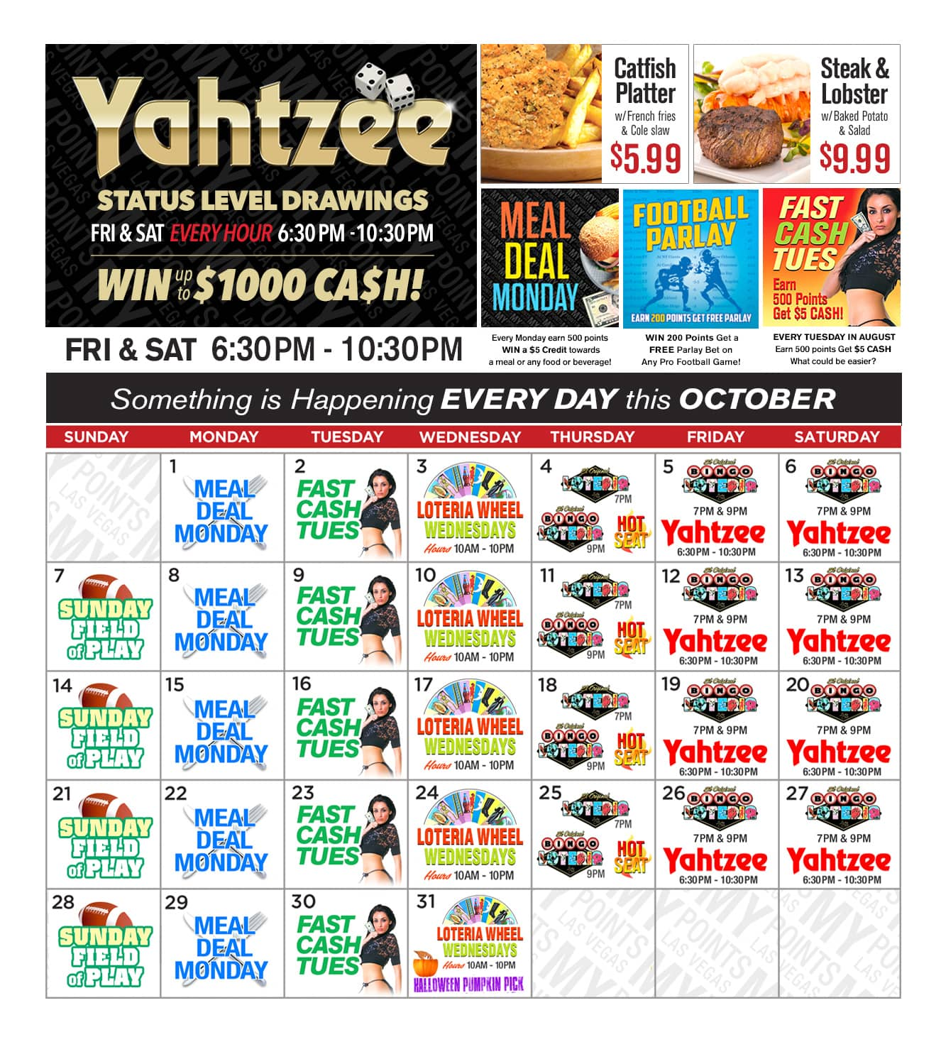 Lucky Club Upcoming Promotions - October 2018