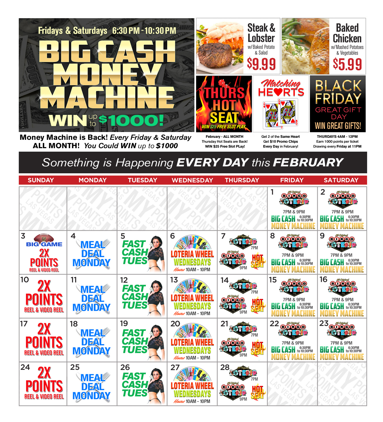 Upcoming Promotions - February 2019