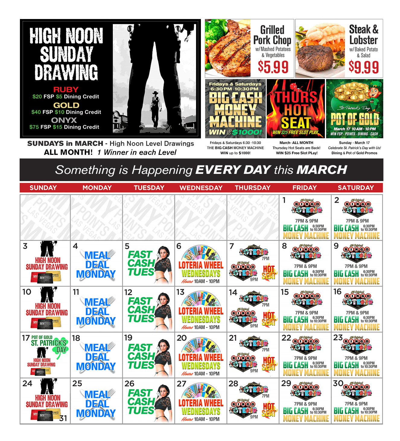 Upcoming Promotions - March 2019